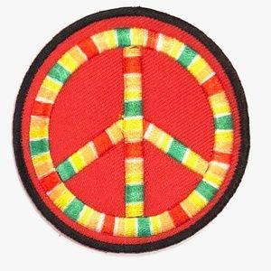 Accessories - Peace Sign patch iron on retro hippie boho DIY